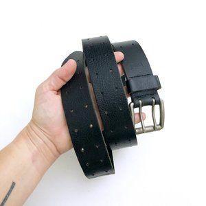 LEVIS Men's Black Leather Multi Hole Belt Lg